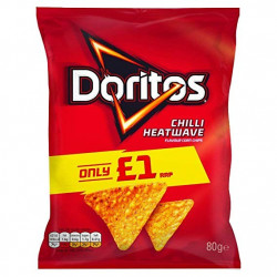 Doritos Chilli Heatwave Tortilla Chips 80g