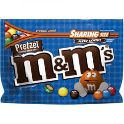 M&M's Pretzel Sharing Bag Zip