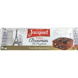 Jacquet Mini Brownies with Hazelnuts
