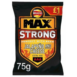 Walkers Max Strong Jalapeno Cheese 75g