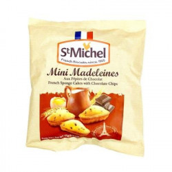 St Michel Mini Madeleines with Chocolate Chips