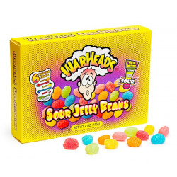 Warheads Sour Jelly Beans Box