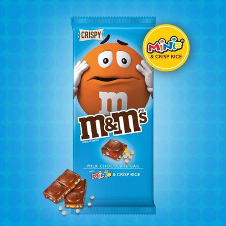 M&M's Milk Chocolate with Mini's and Crisp Rice