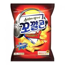 Lotte Corn Snack Spicy & Sweet