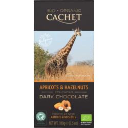 Cachet Bio Dark Chocolate Apricots & Hazelnuts 57%