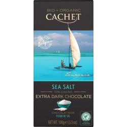 Cachet Bio Extra Dark Chocolate Sea Salt 72%