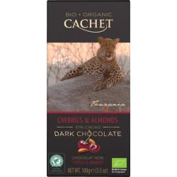 Cachet Bio Dark Chocolate Cherries & Almonds 57%