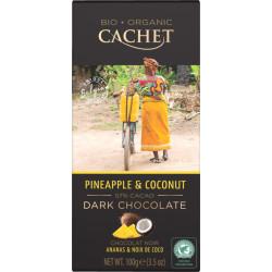 Cachet Bio Dark Chocolate Pineapple & Coconut 57%