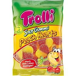 Trolli Sour Gummi Peach Hearts
