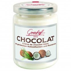 Grashoff Chocolat Blanc mit Kokosflocken und Rumaroma