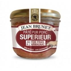 Jean Brunet Pate Pur Porc Au Foie Frains a L'Armagnac