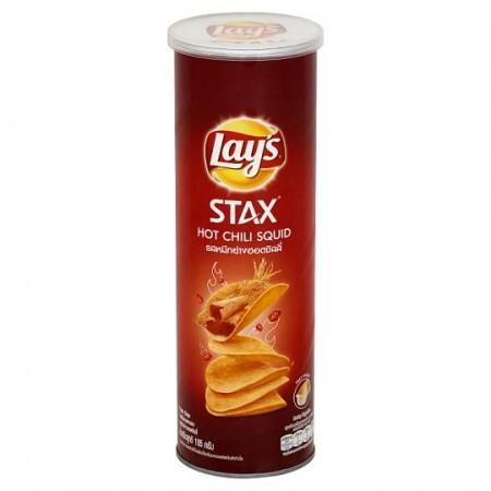 Lay's Stax Hot Chili Squid