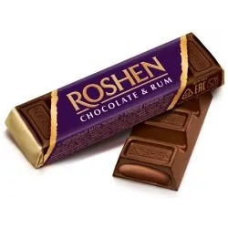 Roshen Dark Chocolate & Rum Bar