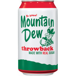 Mountain Dew Throwback Real Sugar