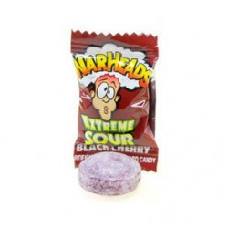 Warheads Extreme Sour Hard Candy Black Cherry