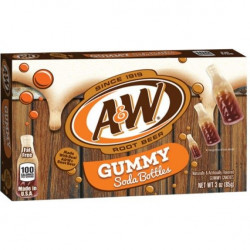 A&W Root Beer Gummy Soda Bottles