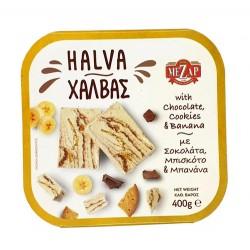 Mezap Halva With Choco, Cookis & Banana