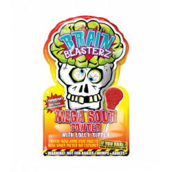 Brain Blasterz Mega Sour Powder & Dipper Apple