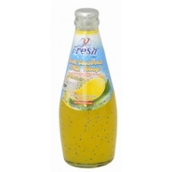 Fresh Basil Seed Drink With Mango