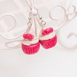 Kolczyki Cupcake Red