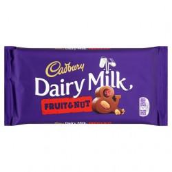 Cadbury Dairy Milk Fruit And Nut Chocolate