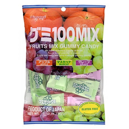 Kasugai Fruits 100 Mix Gummy Candy