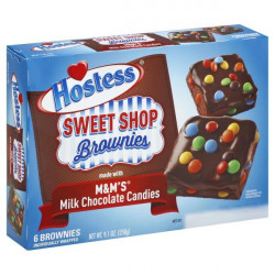 Hostess Brownies with M&M's