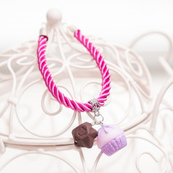 Bransoletka Cupcake Purple