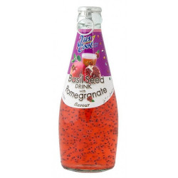 Jus Cool Basil Seed Drink Pomegranate