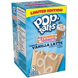 Pop Tarts Frosted Vanilla Latte Limited Edition