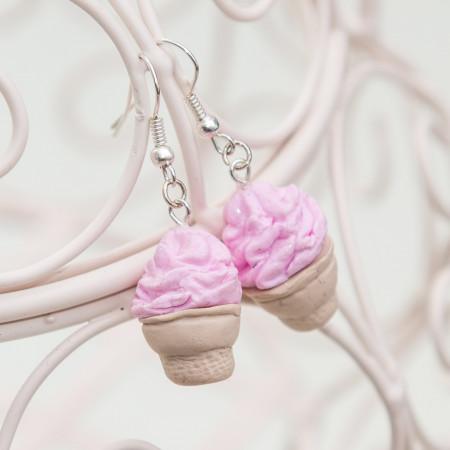 Kolczyki Ice Cream Strawberry