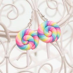 Kolczyki Rainbow Lollipops