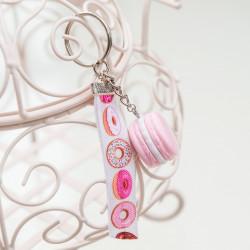 Brelok Macarons Light Pink