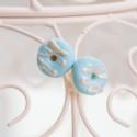 Kolczyki Donuts Blue