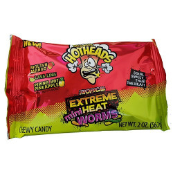 Warheads Hotheads Tropical Extreme Mini Heat Worms