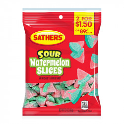 Sathers Sour Watermelon Slices