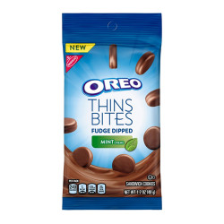 Oreo Thins Bites Fudge Dipped Mint Creme