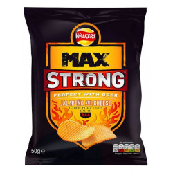 Walkers Max Strong Jalapeno Cheese